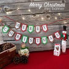 Merry Christmas Banner Print Mini Merry Christmas Banner And Holiday Printables Blog Hop