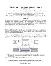 (PDF) <b>High temperature</b> sensor based on a photonic crystal <b>fiber</b> ...