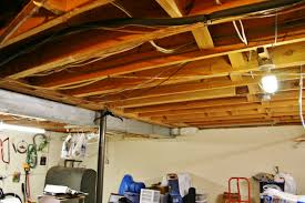unfinished basement ceiling. Simple Unfinished And Unfinished Basement Ceiling N