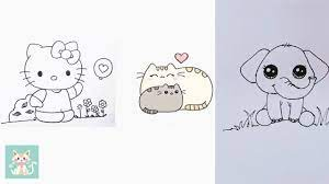Dạy Bé Vẽ Con Vật Cute Đơn Giản Nhất ( P1) - How To Draw Animals For Kids  Easy - YouTube