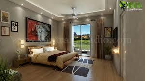 3d Interior cgi design of modern bedroom