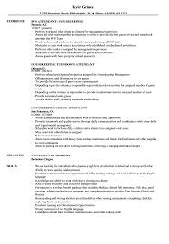 Housekeeper Resume Attendant Housekeeping Resume Samples Velvet Jobs 71