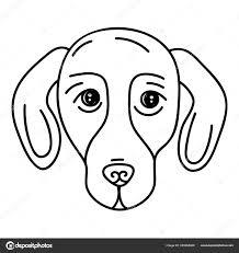 Dog Vector Design Domestic Dachshund Dog Vector Design Stock Vector