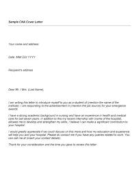 Nursing Assistant Cover Letter Certified Nursing Assi Cool Sample