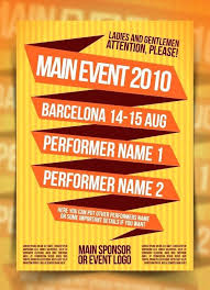 Simple Event Flyers Simple Event Flyer Template Namhoian Info