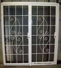 sliding glass door burglar bars far fetched praiseworthy french security doors good secure on home ideas