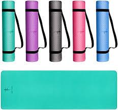 EssVita Premium <b>Yoga</b> Mat 6mm Thick (<b>183 * 61 * 0.6cm</b>) Soft <b>Non</b> ...