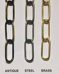 decorative heavy duty chandelier link chain available in antique steel brass bronze