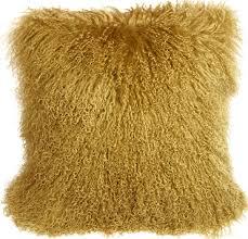 soft throw pillows. Wonderful Throw Mongolian Sheepskin Soft Gold Throw Pillow To Pillows