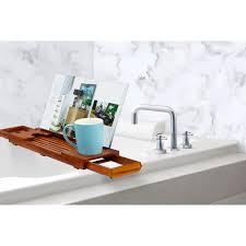 teak bathtub caddy from sportys preferred living