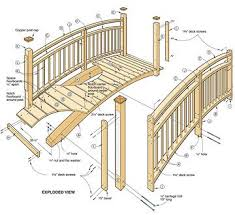 Small Picture Woodwork Wooden Garden Bridge Plans PDF Plans Garden Pinterest