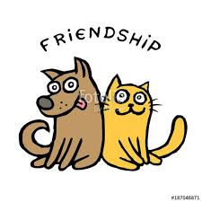 cats and dogs in love drawing. Wonderful Cats Friendship Dog Kik And Cat Tik Friendly Friendship Love Pets Best  Friends Drawing Game Cat Dog Cartoon Cute Illustration Happy  For Cats And Dogs In Love Drawing N