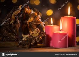 Manger Light Christmas Nativity Scene Baby Jesus Manger Burning Candles