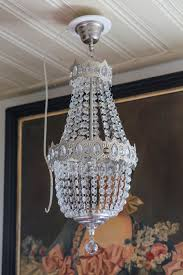 crystal chandelier ceiling light fitting from the 1980s