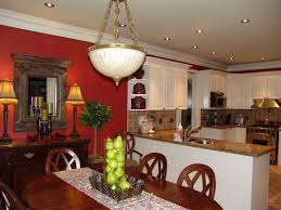 Red Kitchen Paint Red And White Painted Kitchen Cabinets Cliff Kitchen