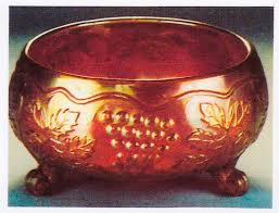 vintage nut bowl vintage nut bowl red stretch glass