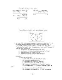 Use The Given Information To Fill In The Number Of Elements For Each Region In The Venn Diagram Grade 7 Learning Module In Math