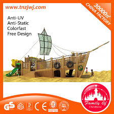 pirate ship kids mini slide outdoor playsets for small yards