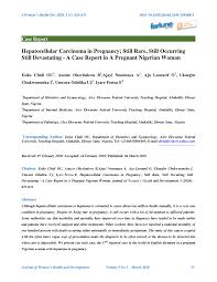 PDF) Hepatocellular Carcinoma in Pregnancy; Still Rare, Still Occurring  Still Devastating - A Case Report in A Pregnant Nigerian Woman