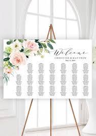 Etsy Wedding Seating Chart Seating Chart Template Wedding Seating Chart Template Set Printable Table Seating Plan Editable Pdf Templates Blush