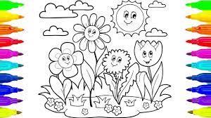 Tổng hợp các bức tranh tô màu phong cảnh mùa xuân rực rỡ dành tặng cho bé  trong 2021 | Phong cảnh, Cánh, Hình ảnh