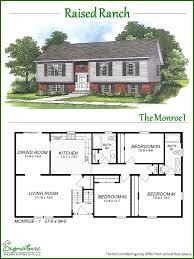 raised ranch signature building systems custom modular home fine floor plans for