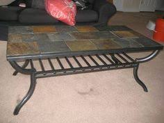 Perfect Slate Tile Coffee Table FOR SALE For $125