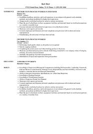 Process Worker Resume Samples Velvet Jobs