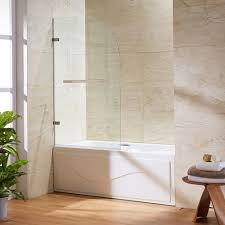 VIGO Orion 34 in. x 58 in. Frameless Curved Pivot Tub/Shower Door ...