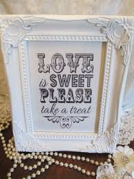 wedding candy baraged white sign love is sweet wooden shabby chic vintage frame 707 p jpg