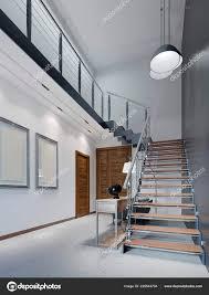 Floor Steps Design Staircase Second Floor Modern Apartment Metal Railings
