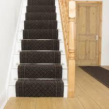 dark brown stair runner rug conga