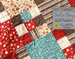 Easy Peasy Fat Quarter Baby Quilt Pattern & Nine Patch Baby Quilt Pattern, Fat Quarter Quilt Pattern, Back to Basics,  Lap Adamdwight.com