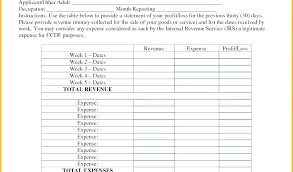 profit and loss form simple business profit and loss template simple monthly statement word