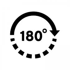 180度のシルエット 無料のaipng白黒シルエットイラスト