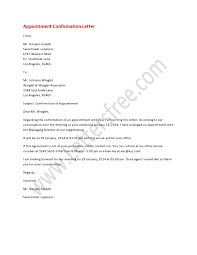 Appointment Confirmation Letter Appointment Letters Lettering