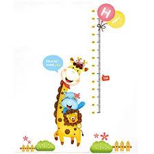 Wall Measuring Chart Amazon Com Homefind Giraffe Measuring Chart Animal Height