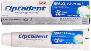 <b>Зубная паста</b> LION Ciptadent Maxi 12 Plus Fresh Mint, 190 г ...