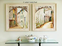 french country art paintings artwork for framed original by 20linda paul 1000x747 appealing wall