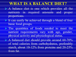 Balanced Diet Chart Ppt Diet And Nutrition Ppt