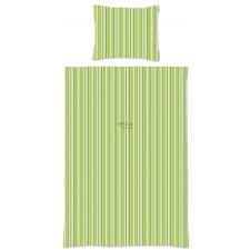 158873 single duvet cover stripes lime green