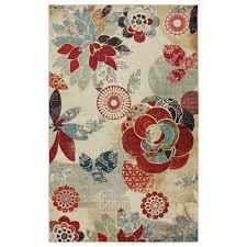 mohawk home geo fl pattern multicolor rectangular 5 ft x 8 ft rug