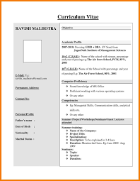 Simple Resume Format For Freshers Free Sample Simple Resume Pdf