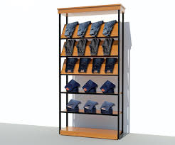 5 layers wood retail clothing display racks for trousers oem odm available