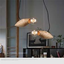 wood chandelier bird creative artistic designer nordic bar