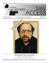 In Memoriam: Dr. Lawrence Stark