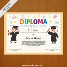 Modelo De Diploma Con Letras De Colores Descargar Vectores Gratis