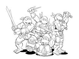 Ninja Turtles Coloring Pages Ninja Turtles Big Bang Fish Ninja