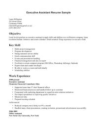 Executive Assistant Resume Objective Administrative Assistant Resume Objectives Great Administrative 49
