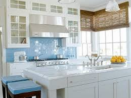 White Granite Kitchen Tops Kitchen Contemporary Blue Tile Backsplash Idea Kitchen With